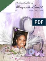 Funeral/Memorial Program Booklet Design
