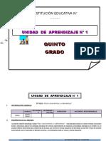 UNIDAD DE APRENDIZAJE 5° Y 6° GRADO DE ED. PRIMARIA MARZO 2016