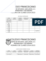 COLEGIO FRANCISCANO (PERSONALES)