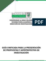 GuÃ-a unificada para la presentación de propuestas y anteproyectos de inevstigación (2)