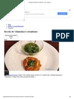 Receita de Chimichurri Colombiano
