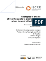 079 Strategies to Enable Physiotherapists to Promote Timely Return to Work Following Injury