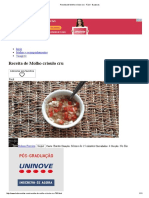 Receita de Molho cru  - Fácil - 8 Passos