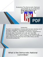 analyzing the democratic national committee as an institution