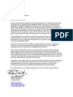 Carta al Secretario General de La OEA(1)