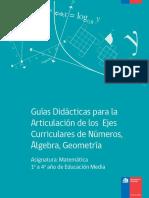 Guías Didácticas Para La Articulación de Los Ejes Curriculares de Números, Álgebra, Geometría