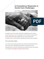 Professional Consultancy Responds to Health and Social Care Challenges
