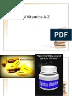 spiritual vitamins a-z