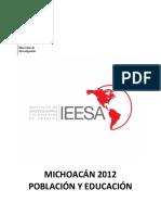 Michoacan 2012 Poblacion y Educacion