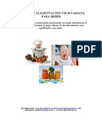 Cuaderno Alimentación Vegetariana Para Bebés