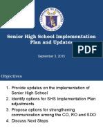 SHS Implementation Updates for R7