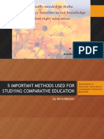 5 Important Methods Used For Studying Comparative Education.pptx