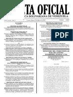 Gaceta Oficial Número 40.858 de la República de Venezuela, 29 de febrero de 2016