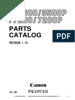 Manual de Partes Canon Ir8500 Ir8070 y compatibles