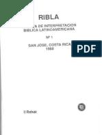 RIBLA 1