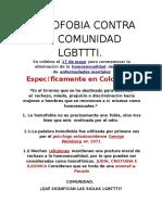 Homofobia Contra La Comunidad Lgbtttiasdnajknakjsnfkjasnfjasnfjansfasnfjasnfnasjkfnas