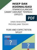 Konsep Dan Operasionalisasi SPGDT Purworejo - Dinkes Jateng