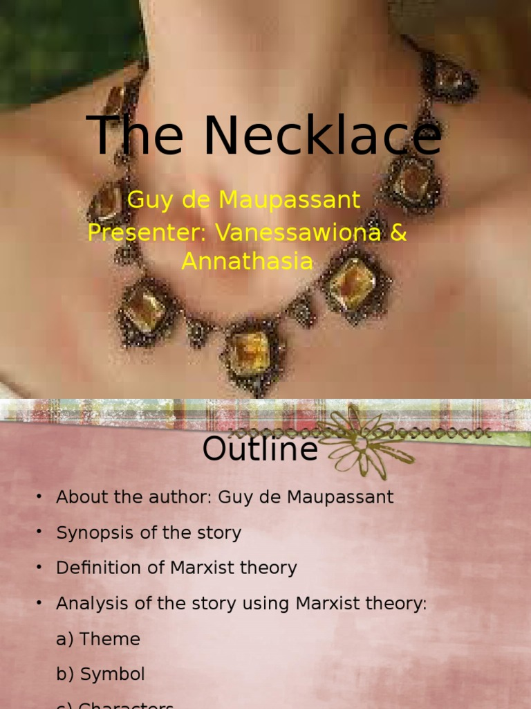 the necklace outline