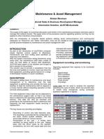 Maintenance & Asset Management