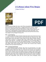 Sinopsis Novel Leftenan Adnan Wira Bangsa
