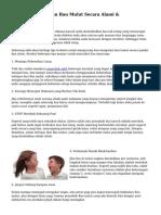 Tips Menghilangkan Bau Mulut Secara Alami & Konvensional