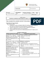 Planificación de 2º año polimodal de Formación Cristiana.
