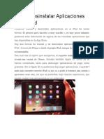 Como Desinstalar Aplicaciones en El iPad