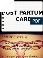 Post Partum Care