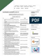 Calendariao Academico 2015-III _ UAC