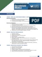 Programa Secretariado Medico