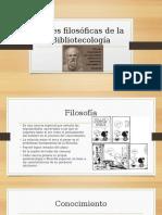 Bases Filosóficas de La Bibliotecología