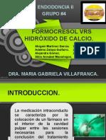 Formocresol vs Hidroxido de Calcio