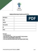 Form Pendaftaran Training LPSE2