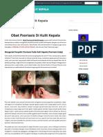 OBAT PSORIASIS DI KULIT KEPALA | Mengatasi, Mengobati dan Menyembuhkan Psoriasis Scalp Pada Kulit Kepala Dengan Secara Alami Tanpa Efek Samping, Yakni Menggunakan Obat Psoriasis Scalp Herbal