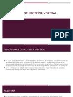 Indicadores de Proteína Visceral