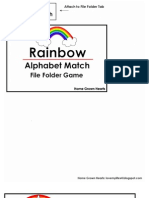 Rainbow Alphabet Match File Folder