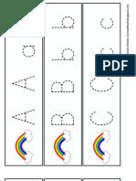 Rainbow Handwriting ~ Letters