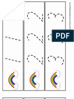 Rainbow Handwriting ~ Numbers