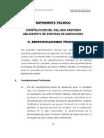 Especificaciones Tecnicas Relleno Sanitario Quirahuara