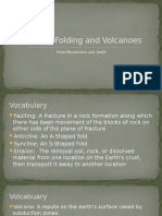 faulting folding and volcanoes