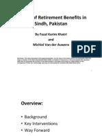 Reform of Retirement Benefits in Sindh, Pakistan