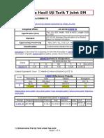 Analisa Hasil Uji Tarik T Joint SM 490YB