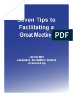 Seven Steps to Facilitating a Great Meeting JBell 2