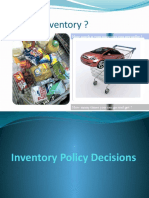 Inventory Policy Decisions