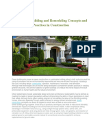 Green Building and Remodeling Concepts and Practices in Construction