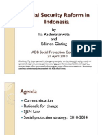 Social Security Reform in Indonesia