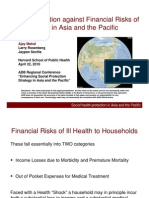 Social Protection against Financial Risks of Illness in Asia and the Pacific