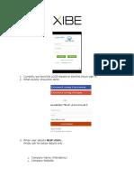 XIBE New Login Process