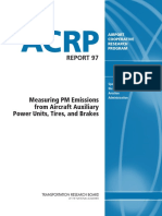Airport Cooperative Research Program Measuring PM Emissions From Aircraft Auxiliary Power Units