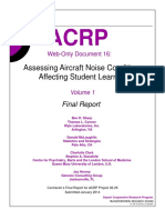 Assessing Aircraft Noise Conditions Affecting Student Learning